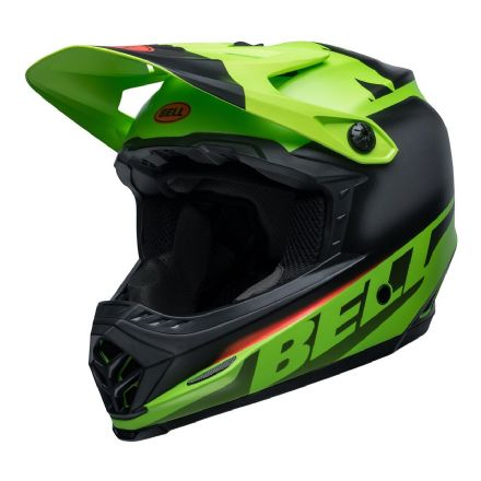 Bell MX 2020 Youth Moto-9 MIPS Helmet (Glory Matte Green/Black/Infrared)